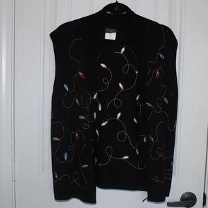 Christmas lights printed vest Size L B3